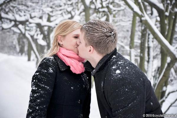 Zimowa Sesja Narzeczeńska Gdańsk