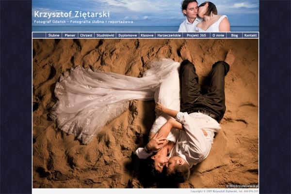 Strona internetowa - Krzysztof Ziętarski