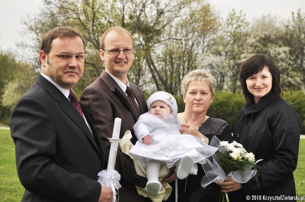 zdjęcia z rodzicami Chrzestnymi - zdjęcia z chrztu Gdańsk, Gdynia