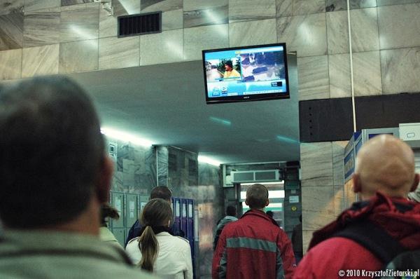 Dworzec w Poznaniu - relacja telewizyjna z terenów dotkniętych powodzią